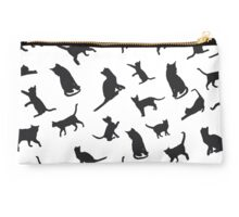 Black Cats - White BG Studio Pouch