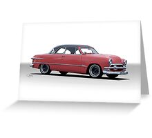 1951 Ford Victoria Greeting Card