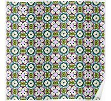 Countrystile spring flowers pattern  Poster