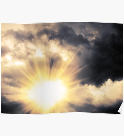 Light through Dramatic Sky Poster