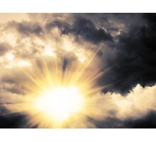 Light through Dramatic Sky Photographic Print