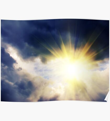 Light through Dramatic Sky 2 Poster