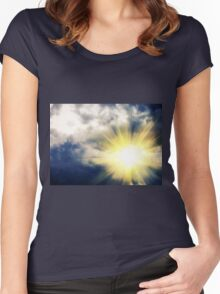 Light through Dramatic Sky 3 Women's Fitted Scoop T-Shirt