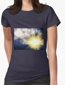 Light through Dramatic Sky 3 Womens Fitted T-Shirt