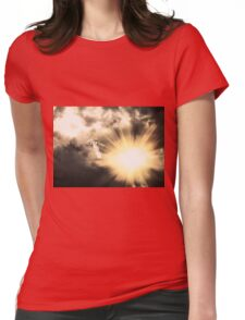 Angel in the Dark Sky 2 Womens Fitted T-Shirt