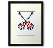 British Mod Union Jack Guitars Framed Print