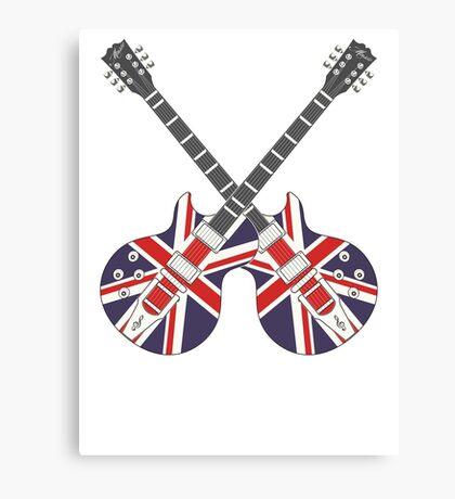 British Mod Union Jack Guitars Canvas Print