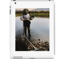 Gold Panner in the Klondike iPad Case/Skin