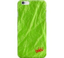 Creased Paper Green iPhone Case/Skin
