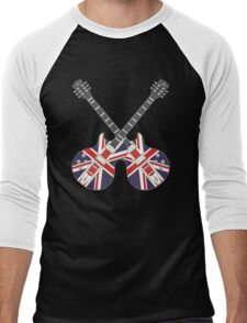 British Mod Union Jack Guitars Men's Baseball ¾ T-Shirt