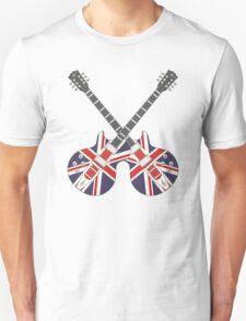 British Mod Union Jack Guitars T-Shirt