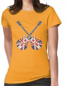 British Mod Union Jack Guitars Womens Fitted T-Shirt