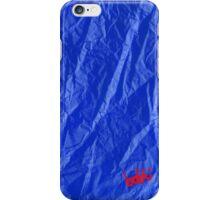Creased Paper Blue iPhone Case/Skin