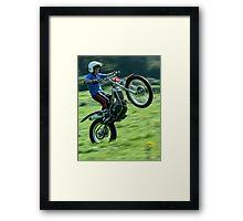 Wonderous Wheelie'ing Framed Print