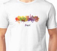 Bari skyline in watercolor Unisex T-Shirt