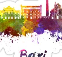 Bari skyline in watercolor Sticker