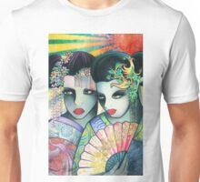 Geisha Girls Holding a Fan Unisex T-Shirt