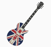 Mod British Union Jack Guitar T-Shirt