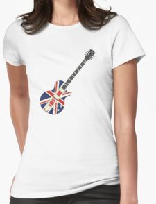Mod British Union Jack Guitar Womens Fitted T-Shirt