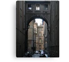 Italian streetscene Canvas Print