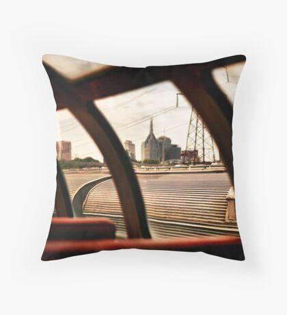 Train'd Eye View of Nashville Throw Pillow