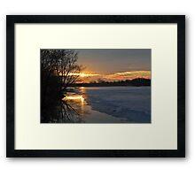Icy Dawn Framed Print