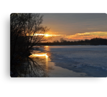 Icy Dawn Canvas Print