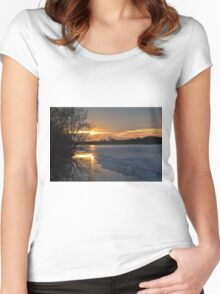 Icy Dawn Women's Fitted Scoop T-Shirt