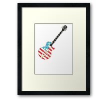 USA Flag Guitar Framed Print