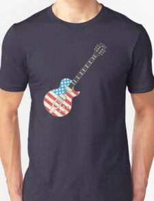 USA Flag Guitar Unisex T-Shirt