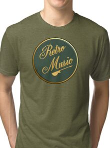 Retro Music  Sign Tri-blend T-Shirt