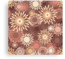 Floral retro pattern Canvas Print