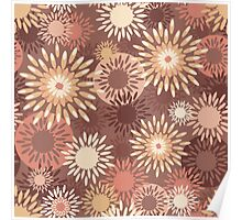 Floral retro pattern Poster