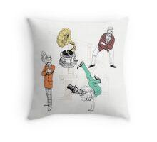 Victorian Bboys Throw Pillow