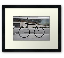 Bicycle Stand Framed Print