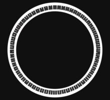 64 symbols circle (B&W) by telberry