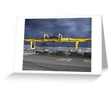 Rain Crane Greeting Card