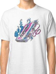 Music Tape Cassette Flames Classic T-Shirt