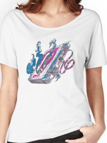 Music Tape Cassette Flames Women's Relaxed Fit T-Shirt