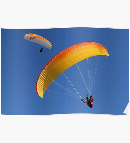 Paragliders Over Westbury Poster