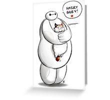 Baymax Hairy Baby Greeting Card