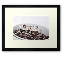 Measure Your Coffee Framed Print