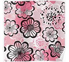 Pattern flowered Poster
