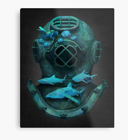 Deep diving Metal Print