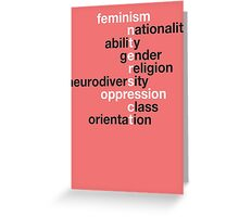 Feminism: Intersect Greeting Card
