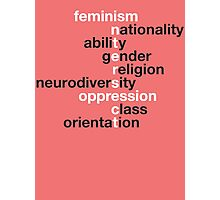 Feminism: Intersect Photographic Print