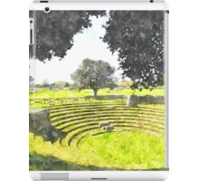 Paestum: archaeological site theater iPad Case/Skin