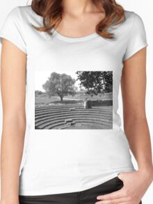 Paestum: archaeological site theater Women's Fitted Scoop T-Shirt