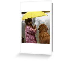 Sharing the Umbrella Greeting Card
