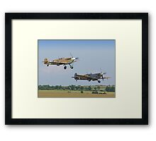 Friend And Foe Take Off - Duxford Flying Legends 2013 Framed Print